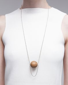 Draped Oak Orb necklace — ABSENCE OF NOISE
