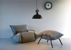 Created by Malafor, the AIR COLLECTION consist of an armchair and stools covered with a nonwoven fabric.