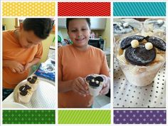 "More good ideasu for AJ's baby shower 7/12/14   Arroz con leche"". decorado para baby shower se cubre con chiches y encima se le pone las Rice*Checa y luego  formamos el mickey mouse."