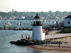 Read about the lighthouses on Nantucket Island including the Great Point Light, Sankaty Head Lighthouse, and Brant Point Light. Oh The Places You'll Go, Places To Travel, Places To Visit, Brant Point Lighthouse, Nantucket Island, Nantucket Beach, Vacation Spots, Vacation Destinations, Earth