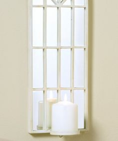 Take a look at this White Iron Window Candleholder by Giftcraft on #zulily today!