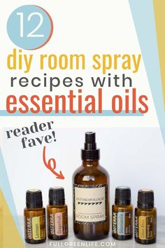 Find out how simple it is to make your own non-toxic air freshener spray and why you would want to! There is also a free printable of 12 essential oil blends to use in your room sprays, including the Anthropologie blend. Essential Oils Room Spray, Essential Oil Uses, Room Freshener, Air Freshener, Glass Spray Bottle, Household Products, Cleaning Products, Cleaning Hacks, Free Printable