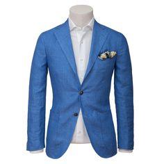 Couleur - bleu ciel / Coupe / Revers / Spalla Camicia