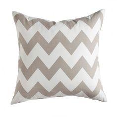 Grey Chevron  Pillow Cover    Pillow Sham    18 X 18. $17.00, via Etsy.