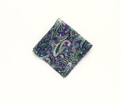Men's royal purple paisley pocket square wedding paisley purple pocket square gift for men Groomsmen uk by TheStyleHubTrends on Etsy