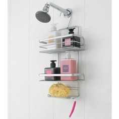 Metaltex Viva Range Shower Caddy with Adhesive Supports, Set of 2: Amazon.co.uk: Kitchen & Home