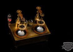 Steampunk Aetherplayer (Raspberry Pi B+ and Volumio) Made by Admiral Aaron Ravensdale from Steampunk Design. Picture by Thomas Clemens Photography. Raspberry Pi Projects, Great Inventions, Steampunk Design, Candles, How To Make, Pictures, Photography, Work Shop Garage, Photos