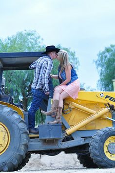 Rustic Country Engagement Picture