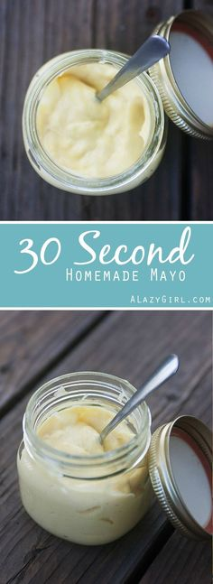 Did you know you can make Homemade Mayo in just about 30 seconds?  It's SUPER easy and NO drizzling!