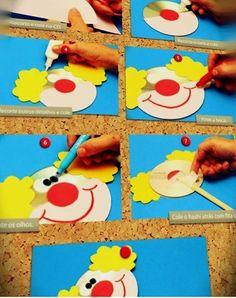 Quilling paper clown craft idea Folding paper clown craft ideas for kids CD clown craft ideas Macaroni clown craft idea for preschool Clown themed dooor  sc 1 st  Pinterest & PAPER PLATE CLOWNS | Craft Kid activities and Paper plate crafts