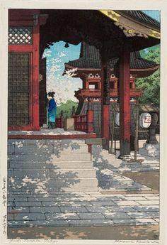 Japanese Art by KAWASE HASUI => Temple, Shrine