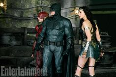 Ezra Miller, Ben Affleck, and Gal Gadot in Justice League . W hat makes the generally dire Justice League . Justice League 2017, New Justice League Movie, Justice League Trailer, Justice League Wonder Woman, Gal Gadot, Batman Wonder Woman, Ezra Miller, Joss Whedon, Entertainment Weekly