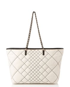 """FENDI """"Roll"""" Fabric Tote.  What a fun play on the quilted pattern - modern, fresh, and fun."""