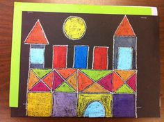 Project - Castle and Sun Artist   - Paul Klee   Materials: Black Construction Paper, 8x12 in size Geometric shape templates (circles, squares, rectangles and triangles) Pencils Craypas (oil-based c...