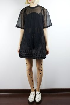Daniel Palillo - Mesh Ruffle Skull Dress
