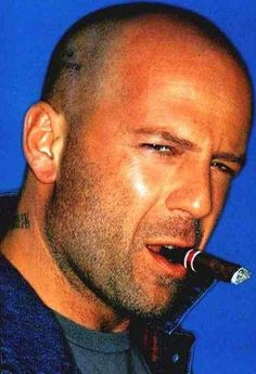 Bruce Willis is eternally HOT.....  young or old  hair or no hair.....  he will always be one of my favorites