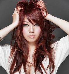 beautiful red hair color. Very subtle