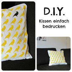 DIY: Kissen einfach bedrucken
