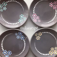 """A visit to a """"paint your own pottery"""" shop is not something to be taken lightly when it comes to cost. Dot Art Painting, Mandala Painting, Ceramic Painting, Stone Painting, Ceramic Art, Pottery Painting Designs, Pottery Art, Pottery Painting Ideas Easy, Beginner Pottery"""