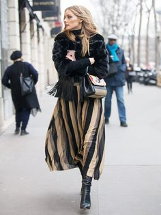 Olivia Palermo has been stepping out in a series of statement maxi skirts, making the silhouette her new fashion month staple.