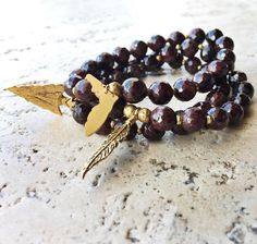 FSU Seminoles stretch stack! Made with genuine garnet and gold, these bracelets are the perfect sorority gift!