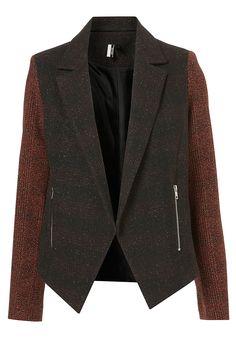 Yes, please. Topshop - Check Tweed Biker Jacket