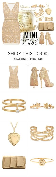 """""""Not all that is Gold does Glitter"""" by faleur102 ❤ liked on Polyvore featuring Nicole Miller, Gianvito Rossi, Sophie Bille Brahe, Pernille Corydon, Reeds Jewelers, Stella & Dot, La Regale, AND, gold and holiday"""