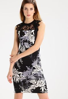 d8256f170acb92 Dorothy Perkins Petite FLORAL - Sukienka etui - black za 209 zł (22.05.17