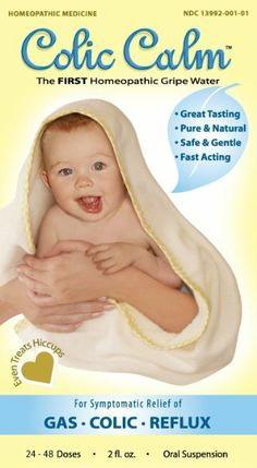 POPULAR, HOMEOPATHIC GRIPE WATER: Colic-Calm Homeopathic Gripe Water,Relief of Gas, Colic and Reflux 2 Fluid Ounce: Health & Personal Care
