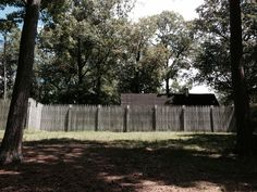 Simple fence in Jamestown settlement