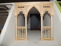 Late Victorian English Manor Dollhouse: 1/12 Miniature from Scratch: The Gothic Hall and the Attic Parlour - how built rather than a tutorial