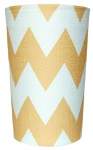 chevron wastebasket...diy this with fabric and 3m spray