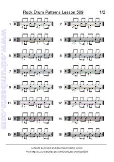 Idea's page 38 has 16 skip beats rock drum patterns. Drum Lessons, Music Lessons, Guitar Lessons, Drum Sheet Music, Drums Sheet, Drum Rudiments, Drum Notes, Learn Drums, Drum Patterns