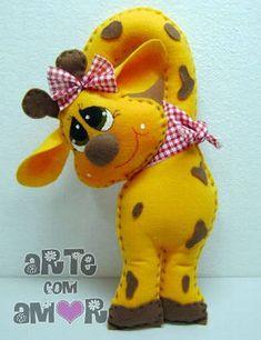 Resultado de imagem para molde girafinha arte com amor