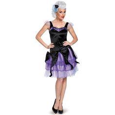 Disney Deluxe Ursula Women's Plus Size Adult Halloween Costume, Women's Plus, Size: Standard One-Size, Multicolor