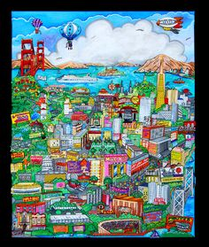 "San Francisco Meets the Bay Area - U64  44"" x 55"""