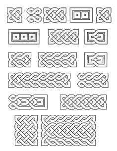 Printable Small Celtic Knots