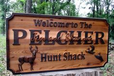 Personalized Hunt Cabin Custom Family Name by GPandSonWoodcrafting