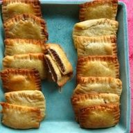 Nutella Pop Tarts - who doesn't love nutella?????? also, for fruit, replace nutella with fresh fruit and jam  :-)