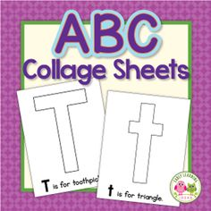 FREE list: 200+ Materials for Preschool Letter Activities and Collages - Early Learning Ideas Alphabet Activities Kindergarten, Preschool Letter Crafts, Teaching The Alphabet, Alphabet Crafts, Letter Activities, Alphabet Book, Preschool Learning Activities, Letter A Crafts, Learning Letters