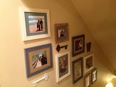 Great family photo display!