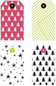 Chic Soufflé: Etiquetas imprimibles para regalos de Navidad