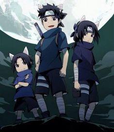 Uchiha Sasuke, Uchiha Shisui and Uchiha Itachi Naruto Itachi Uchiha, Naruto Shippuden Sasuke, Naruto Und Sasuke, Wallpaper Naruto Shippuden, Naruto Cute, Shikamaru, Anime Naruto, Naruto Comic, Naruto Fan Art