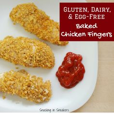 Gluten free chicken fingers that taste great, are baked instead of ...