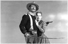"""Año 1950 - John Wayne y Maureen O'Hara en """"RÍO GRANDE"""", dirigida por John Ford.Colección: Jerry Murbach (Dr. Macro)"""