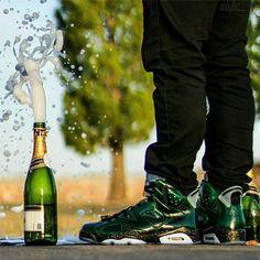 jordan 6 champagne on feet
