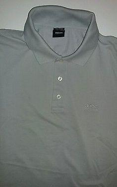 Hugo Boss Men's Polo Shirt XL Gray Pima Cotton EXCELLENT CONDITION