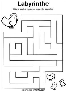 Labyrinth – Free printable Worksheet – Visual Form Constancy / Visual Discrimination / Observation / Visual Perception – Improving Focus, Concentration and Visual Attention Mazes For Kids Printable, English Worksheets For Kids, Kids Math Worksheets, Free Printable, Preschool Learning Activities, Book Activities, Teaching Kids, Kids Learning, Toddler Preschool