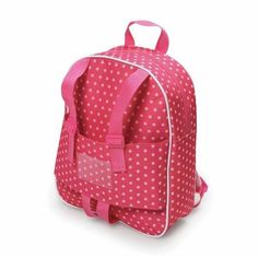 "Badger Basket Doll Travel Backpack, Star Pattern, Fits Most 18"" Dolls & My Life As"