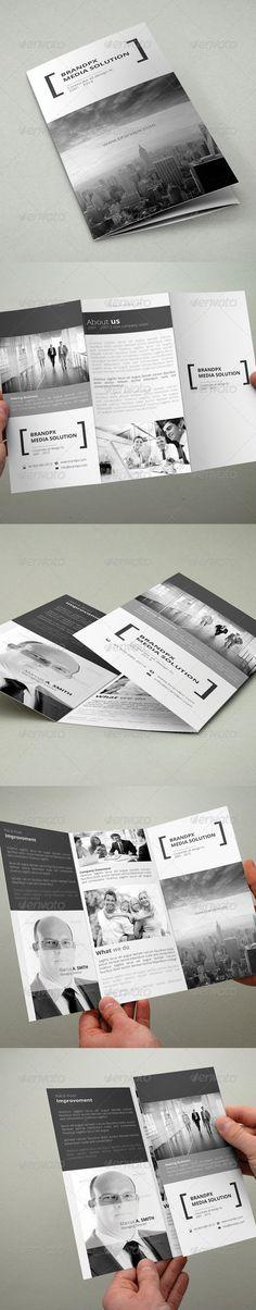 Creative White Trifold Brochure